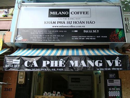 Làm bảng hiệu cafe sinh tố